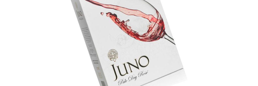 Ny design på Juno Rosé ett Fairtrade-vin från Sydafrika