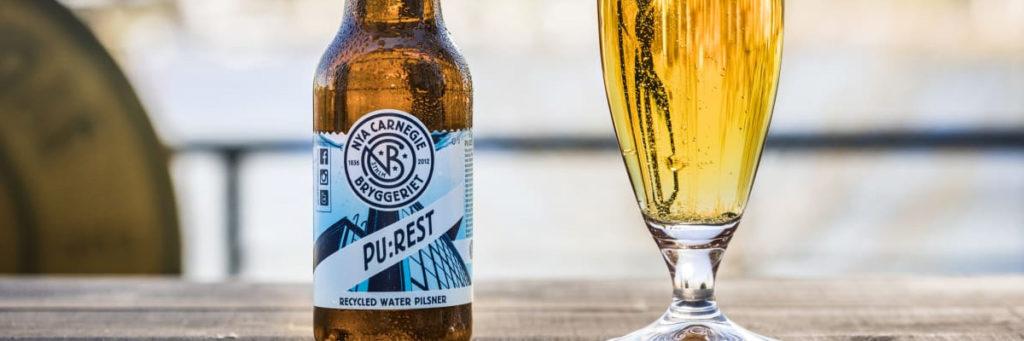 Sveriges första öl bryggd på renat avloppsvatten