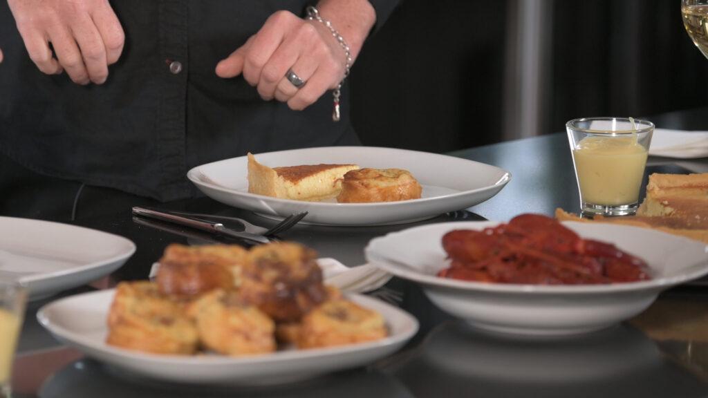 Kräftor, paj och potatisbakelser