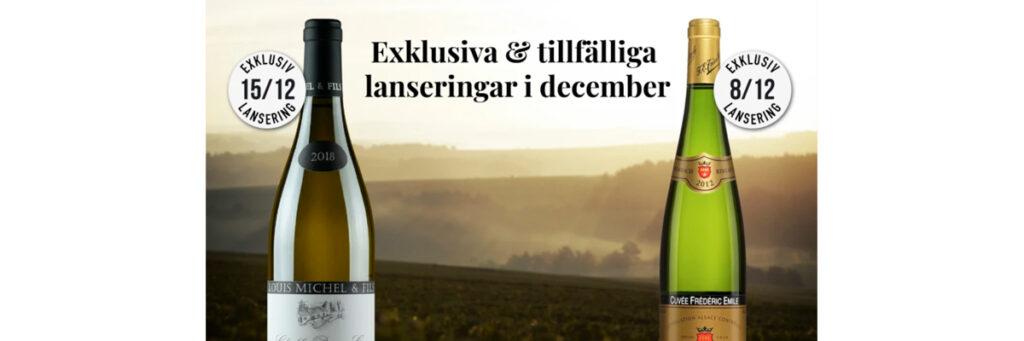 Exklusiva lanseringar från Ward Wines i december