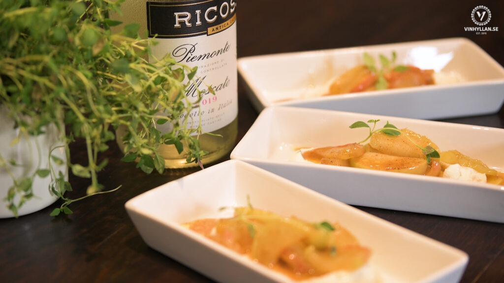 Vin & Mat: Marsalaäpplen med timjanmascarpone
