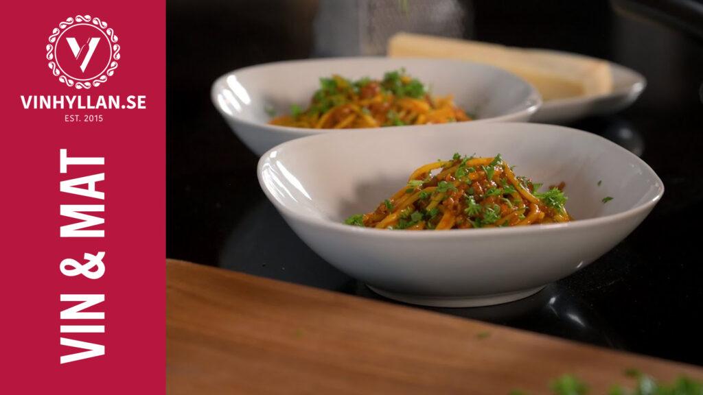 Spaghetti och köttfärssås med kurdiska smaker