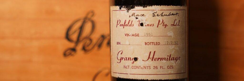 Penfolds Grange Bin 1 Shiraz 1951 såld på auktion